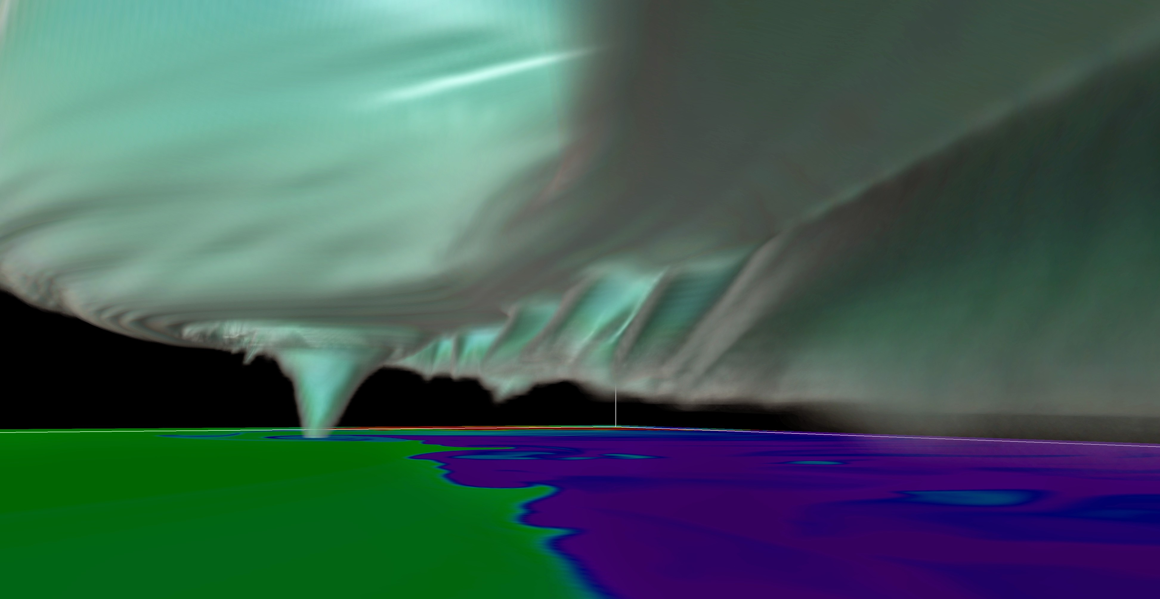 Weakening tornado